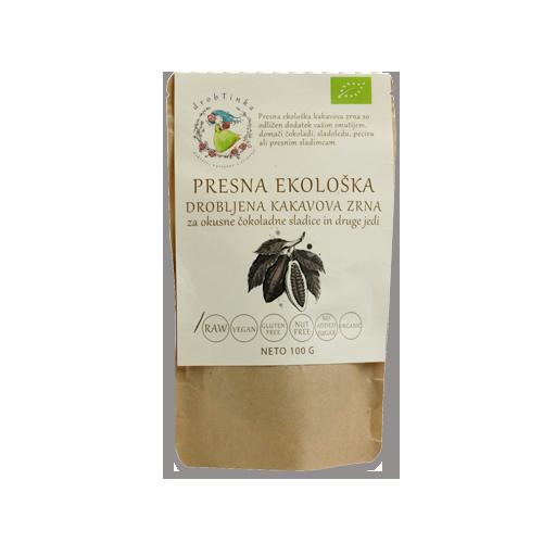 Kakavova zrna Drobtinka - presna, ekološka, 100 g
