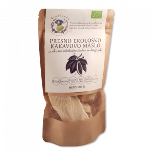 Kakavovo maslo Drobtinka - presno, ekološko, 180 g