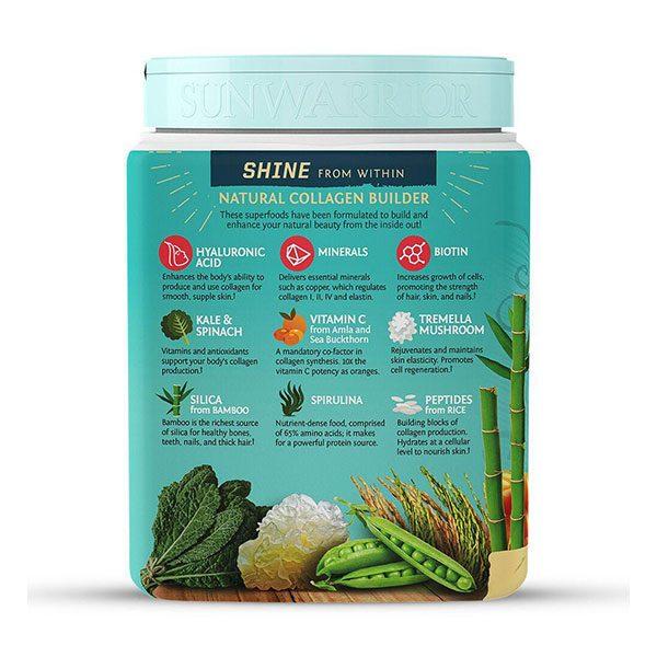 Kolagen na rastlinski osnovi SunWarrior - okus tahitijska vanilija, 500 g