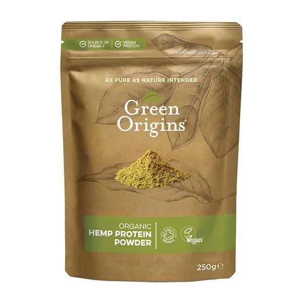 Konopljini proteini Green Origins - ekološki, presni, 250 g