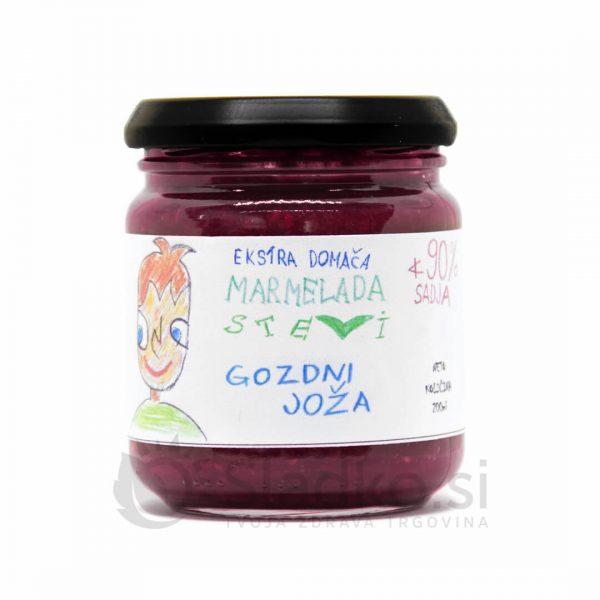 Marmelada iz gozdnih sadežev brez dodanega sladkorja s stevijo, ekstra domača, 90% sadni delež, Stevi, 200 ml