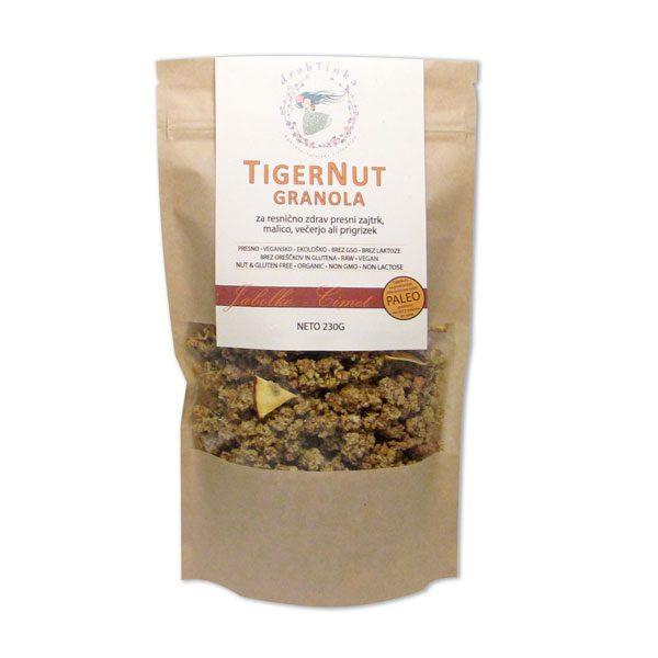 Presna ekološka granola Jabolko in cimet Tiger Nut Drobtinka, 230 g