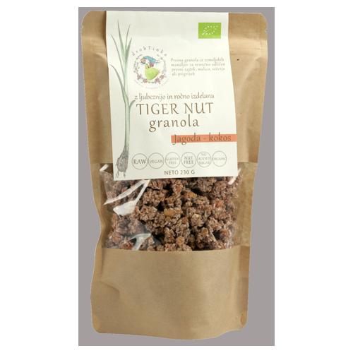 Presna ekološka granola Jagoda - kokos Tiger Nut Drobtinka, 230 g