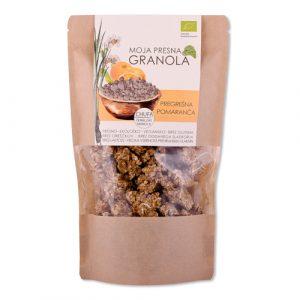 Presna ekološka granola Pregrešna pomaranča Drobtinka, 230 g