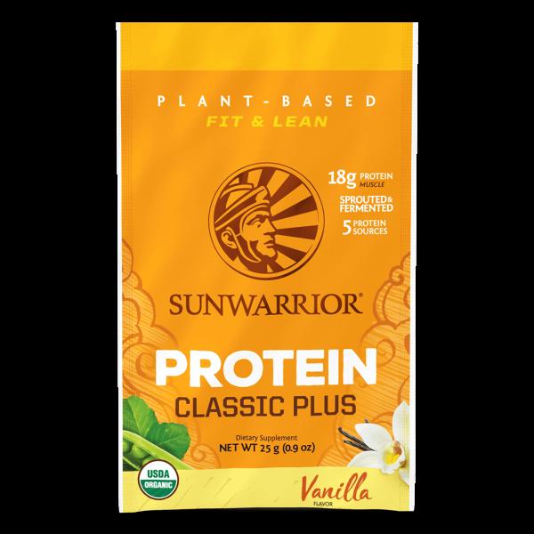 Sunwarrior Classic PLUS rastlinski proteini - Vanilija, 25 g