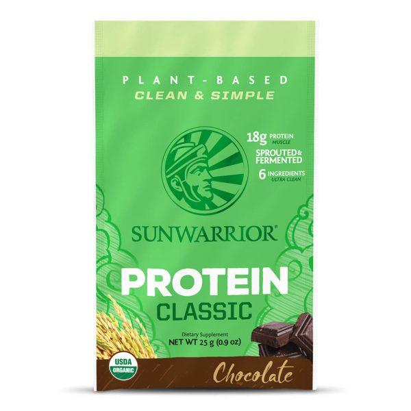 Sunwarrior Classic rastlinski proteini - Čokolada, 25 g
