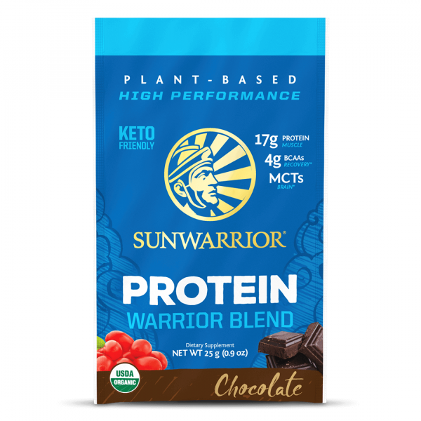 Sunwarrior Warrior Blend rastlinski proteini - Čokolada, 25 g
