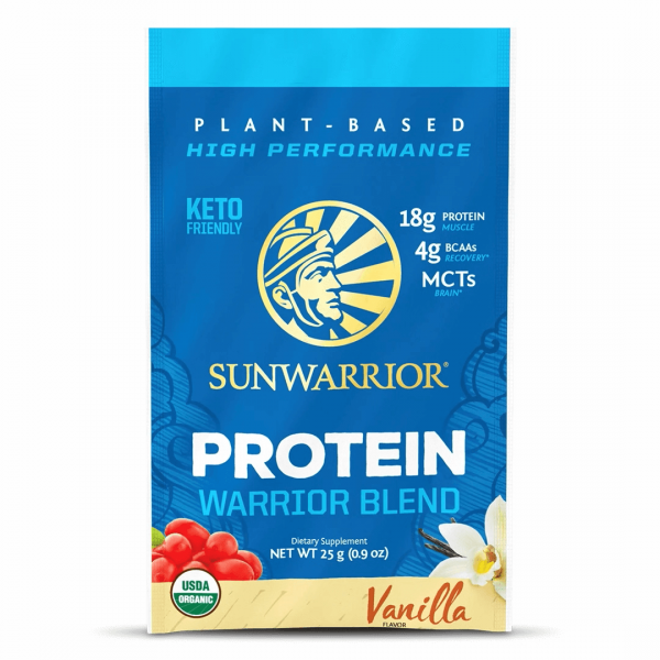 Sunwarrior Warrior Blend rastlinski proteini - Vanilija, 25 g