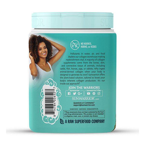 Veganski kolagen SunWarrior, naravni okus, 500 g - rastlinski kolagen