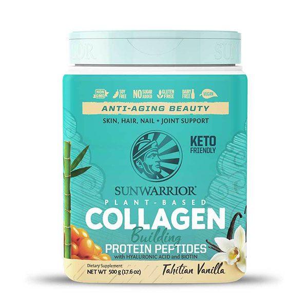 Veganski kolagen SunWarrior - okus tahitijska vanilija, 500 g