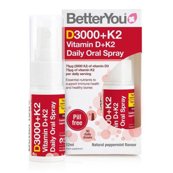 Vitamina D3 in K2 v spreju – DLux PLUS BetterYou