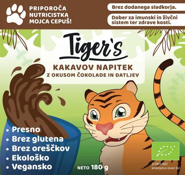 tiger's kakavov napitek - nalepka