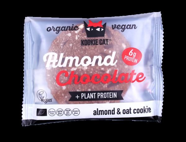Kookie Cat naravni piškot mandelj - čokolada (BIO, veganski), 50 g
