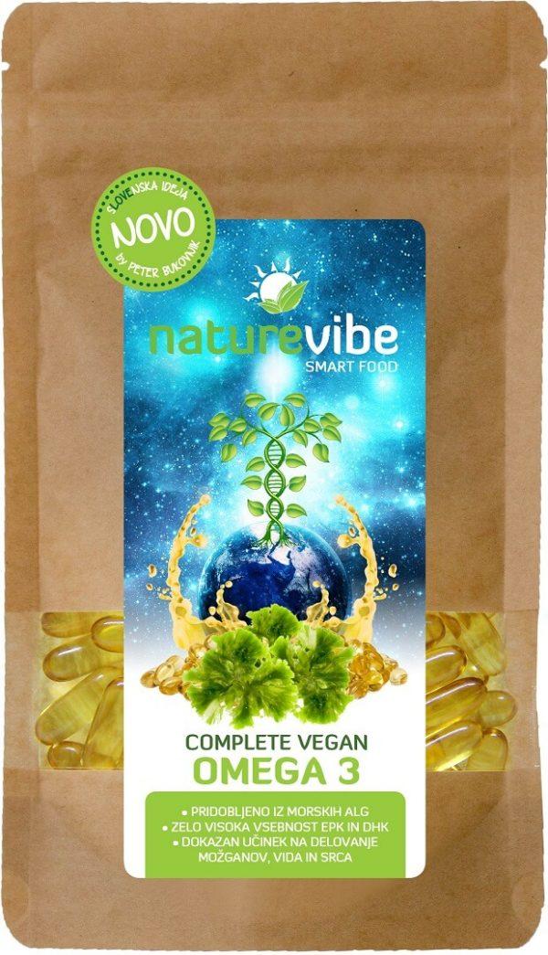 NatureVibe Complete Vegan Omega 3 - rastlinske omega 3