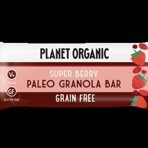 Paleo granola ploščica SUPER JAGODIČEVJE, Planet Organic, eko, 30 g