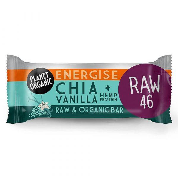 Paleo presna energijska ploščica Chia semena in vanilija, Planet Organic, eko, 30 g