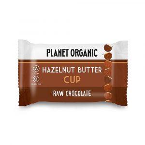 Presno čokoladni cup z lešnikovim maslom, Planet Organic, eko, 25 g