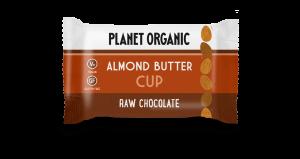 Presno čokoladni cup z mandljevim maslom, Planet Organic, eko, 25 g