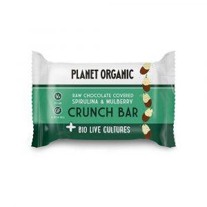 BioLive presna ploščica z AJDO in SEMENI, oblita s temno čokolado - okus MURVE in SPIRULINA, Planet Organic, 40 g