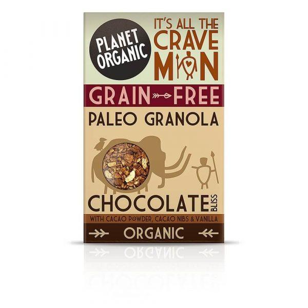 Paleo granola ČOKOLADNA SREČA, Planet Organic, eko, 350 g