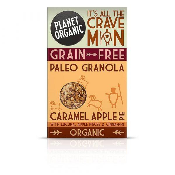Paleo granola JABOLČNA PITA S KARAMELO, Planet Organic, eko, 350 g