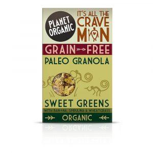 Paleo granola SLADKO ZELENJE, Planet Organic, eko, 350 g