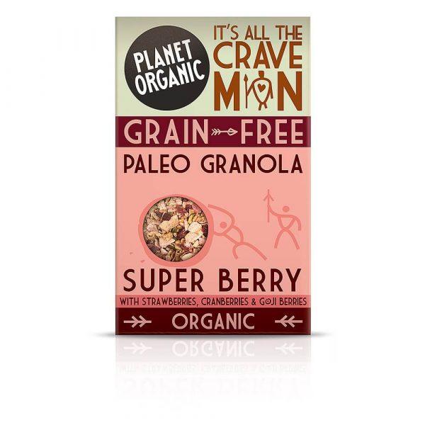 Paleo granola SUPER JAGODIČEVJE, Planet Organic, eko, 350 g