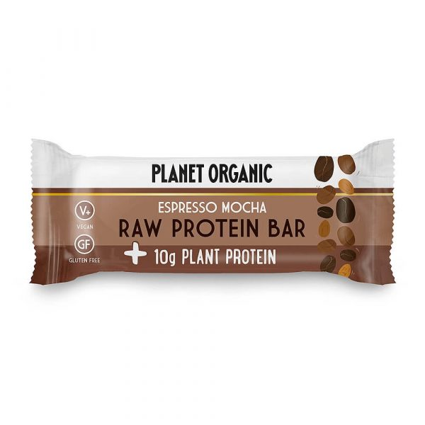 Presna in visoko beljakovinska EKO ploščica ESPRESSO MOCHA (okus kave), Planet Organic, 50 g