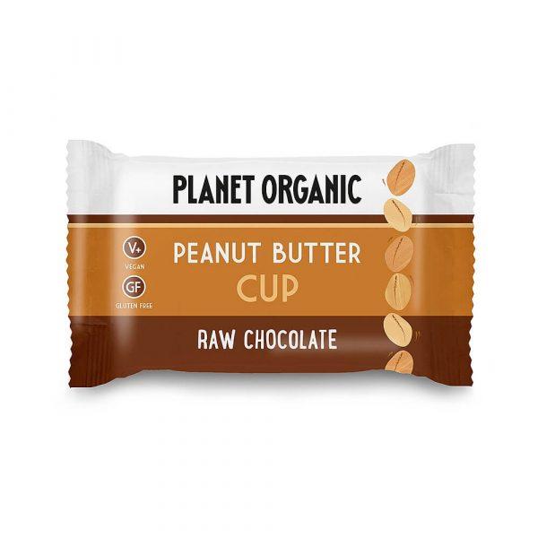 Presno čokoladni cup z arašidovim maslom, Planet Organic, eko, 25 g