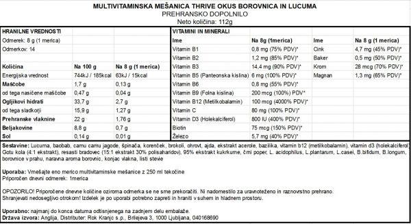 Thrive-borovnica-112g - deklaracija