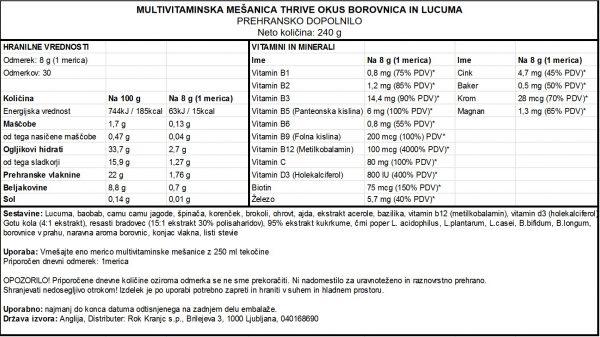 Thrive-borovnica-240g - deklaracija