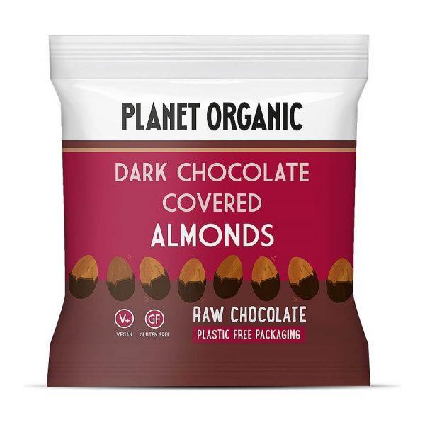Mandlji obliti s presno temno čokolado Planet Organic