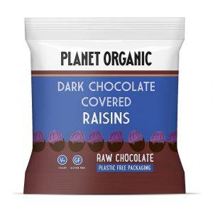 Rozine oblite s presno temno čokolado Planet Organic