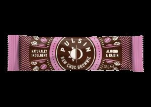 Čokoladna tablica z mandlji in rozinami Pulsin