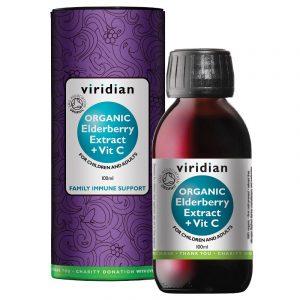 Črni bezeg, sirup z vitaminom C Viridian
