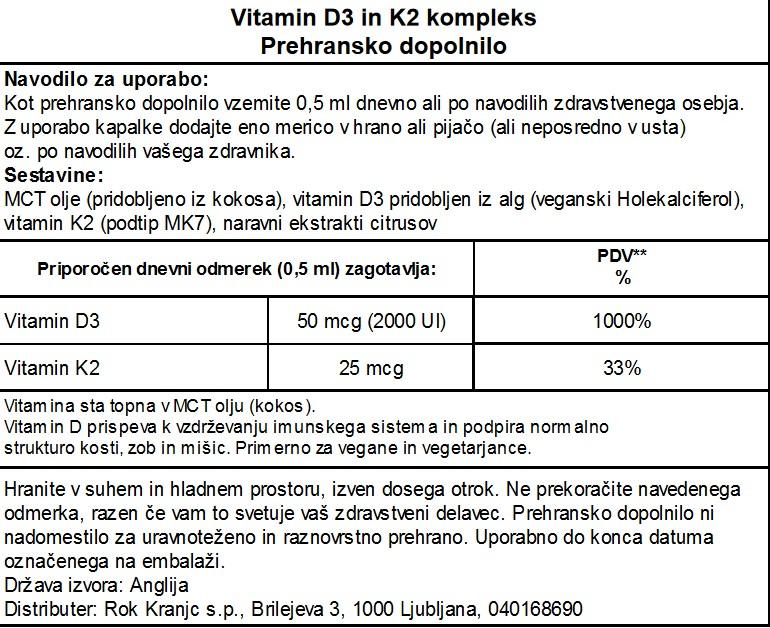 VitaminD3+K2 - deklaracija