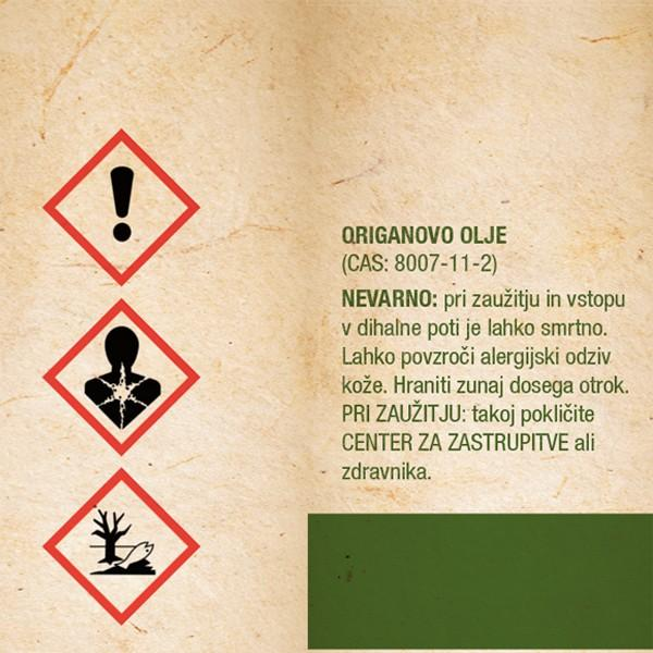 Origanovo olje - opozorilo