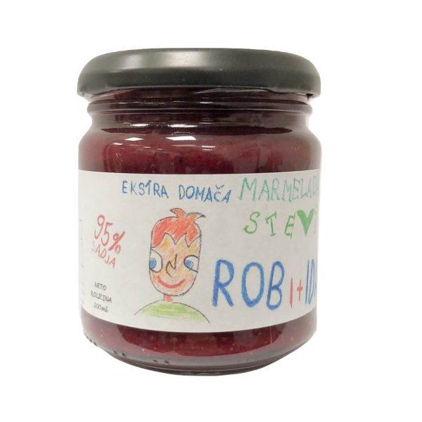 Robidova marmelada brez dodanega sladkorja s stevijo