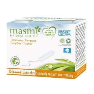 Tamponi iz certificiranega ekološkega bombaža Masmi - SUPER PLUS