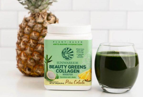 Beauty Greens Collagen Booster SunWarrior - napitek