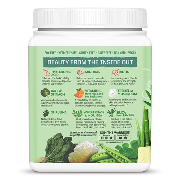 Beauty Greens Collagen Booster SunWarrior - sestavine