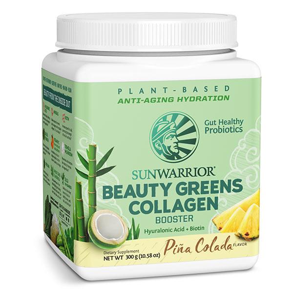 Beauty Greens Kolagen Booster SunWarrior, okus Pina Colada, 300 g