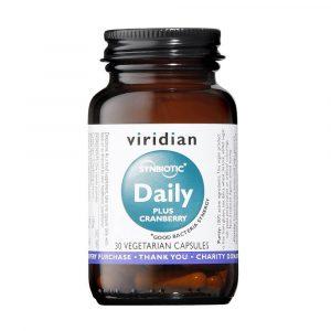 Probiotiki z brusnicami Viridian Daily plus Cranberry