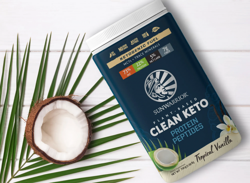 SunWarrior Clean Keto - tropska vanilija