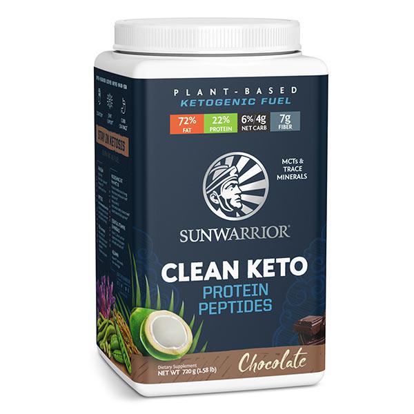 Sunwarrior Clean Keto veganski keto proteini - čokolada-2