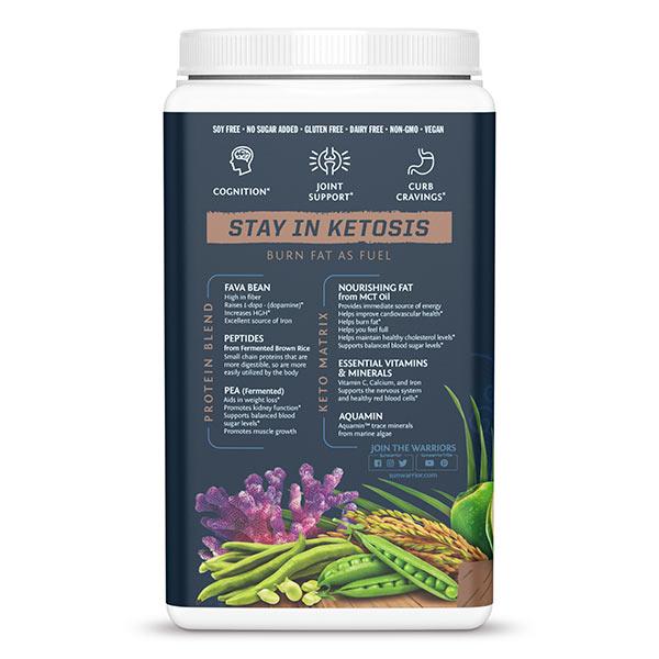 Sunwarrior Clean Keto veganski keto proteini - čokolada - sestavine