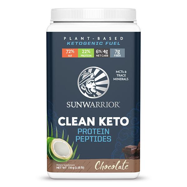 Sunwarrior Clean Keto veganski keto proteini - čokolada