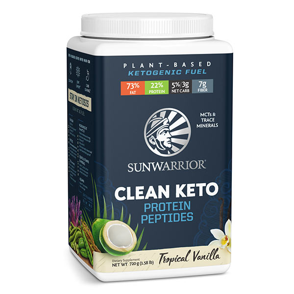 Sunwarrior Clean Keto veganski keto proteini - vanilija-2