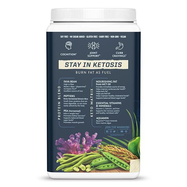 Sunwarrior Clean Keto veganski keto proteini - vanilija - zadnja stran