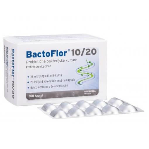 Bactoflor 10-20 probiotik 100 kapsul - embalaža
